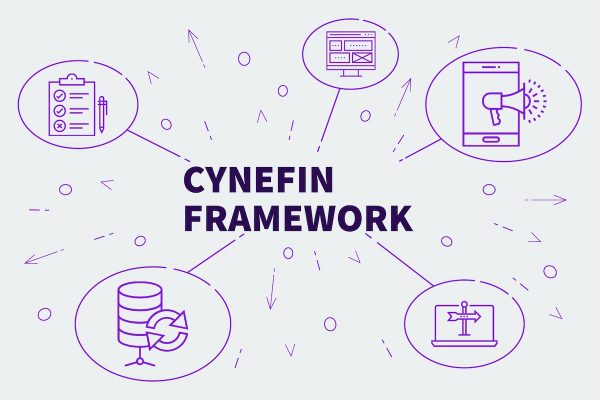 Business illustration showing the concept of cynefin framework